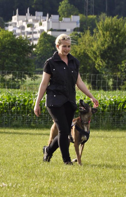 Hundetrainerin Corinne Schmocker